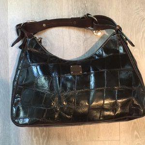 DOONEY & BOURKE  Vintage Leather Croc Bag